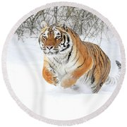 Winter Charge Round Beach Towel