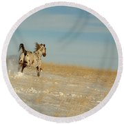 Winter Charger Round Beach Towel