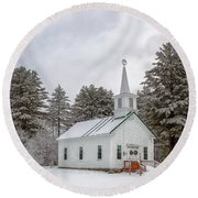 Round Beach Towel featuring the photograph Season Of Peace by Rod Best