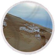 Winter Dune Round Beach Towel