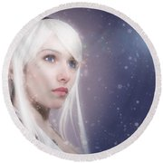 Winter Fae Round Beach Towel