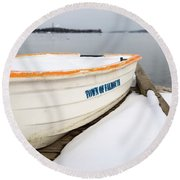 Winter, Falmouth, Maine  -18674 Round Beach Towel