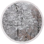 Winter Fantasy Round Beach Towel