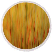 Winter Grasses #1 Round Beach Towel