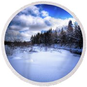 Round Beach Towel featuring the photograph Winter Highlights by David Patterson