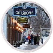 Winter In Cape Vincent Round Beach Towel