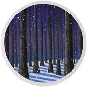 Winter Is Coming 01 Round Beach Towel