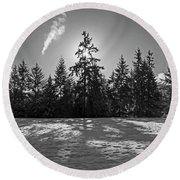 Winter Landscape - 365-317 Round Beach Towel