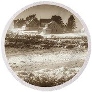 Winter - Lord's Point - Kennebunk Round Beach Towel