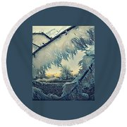 Winter Magic Round Beach Towel
