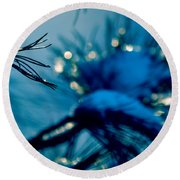 Round Beach Towel featuring the photograph Winter Magic by Susanne Van Hulst