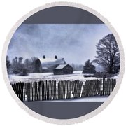 Round Beach Towel featuring the photograph Winter by Mark Fuller