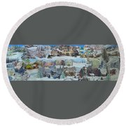 Winter Repose - Sold Round Beach Towel