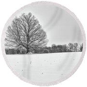 Round Beach Towel featuring the photograph Winter by Rod Best