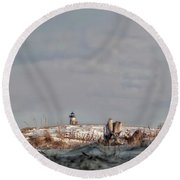 Winter Scented Sand Round Beach Towel by Richard Bean