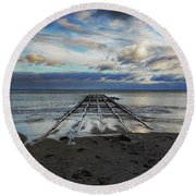 Winter Sea Round Beach Towel