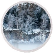 Winter Shore Round Beach Towel