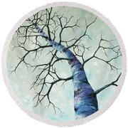 Winter Sky Round Beach Towel