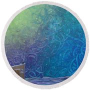 Winter Solitude 2 Round Beach Towel