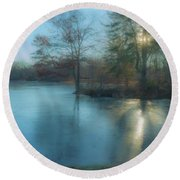 Winter Solstice 2017 North Easton Ma Round Beach Towel