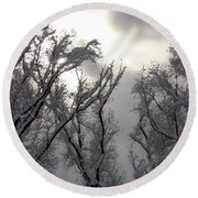 Winter Solstice Utah Round Beach Towel
