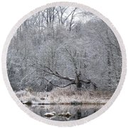 Winter Special Round Beach Towel by I'ina Van Lawick