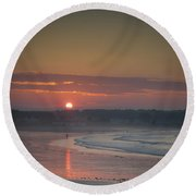 Winter Sunrise - Kennebunk Round Beach Towel