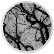 Winter Veins Round Beach Towel