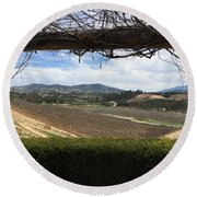 Winter Vines Round Beach Towel