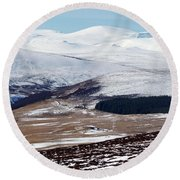 Winter Wilderness Round Beach Towel
