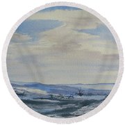 Winter Wilds Round Beach Towel