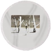 Winter Wood Round Beach Towel