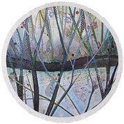 Winterlude Round Beach Towel