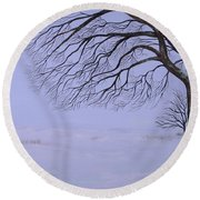 Winter's Fury Round Beach Towel