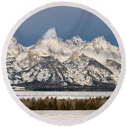 Winter's Majesty Round Beach Towel
