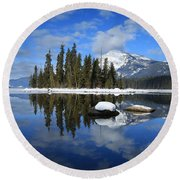 Winters Mirror Round Beach Towel