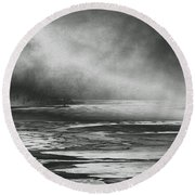 Winter's Song Round Beach Towel