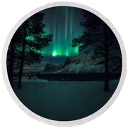 Winterspell Round Beach Towel