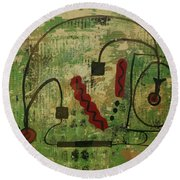 Wired Composition Enigma Round Beach Towel