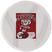 Wisconsin Badgers Round Beach Towel