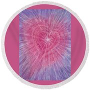 Wisdom Of The Heart Round Beach Towel
