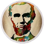 Wise Abraham Lincoln Quote Round Beach Towel