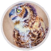Wise Round Beach Towel