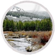 Wise River Montana Round Beach Towel