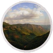 Round Beach Towel featuring the photograph Wiseman's View by Jessica Brawley