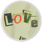 Wisest Word Of Them All Round Beach Towel