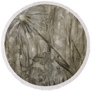 Wish From The Forrest Floor Round Beach Towel