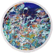Round Beach Towel featuring the painting Wishes by Fabrizio Cassetta