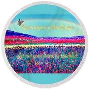 Wishing You The Sunshine Of Tomorrow Bereavement Card Round Beach Towel