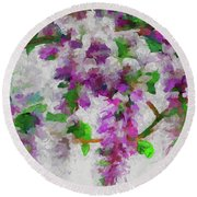 Wisteria Branch Round Beach Towel